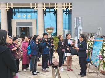 南宁市殡仪馆举行公众开放日活动 现场释疑解惑