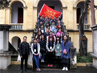 采访团参观红八军军部旧址 感受崇左红色旅游资源