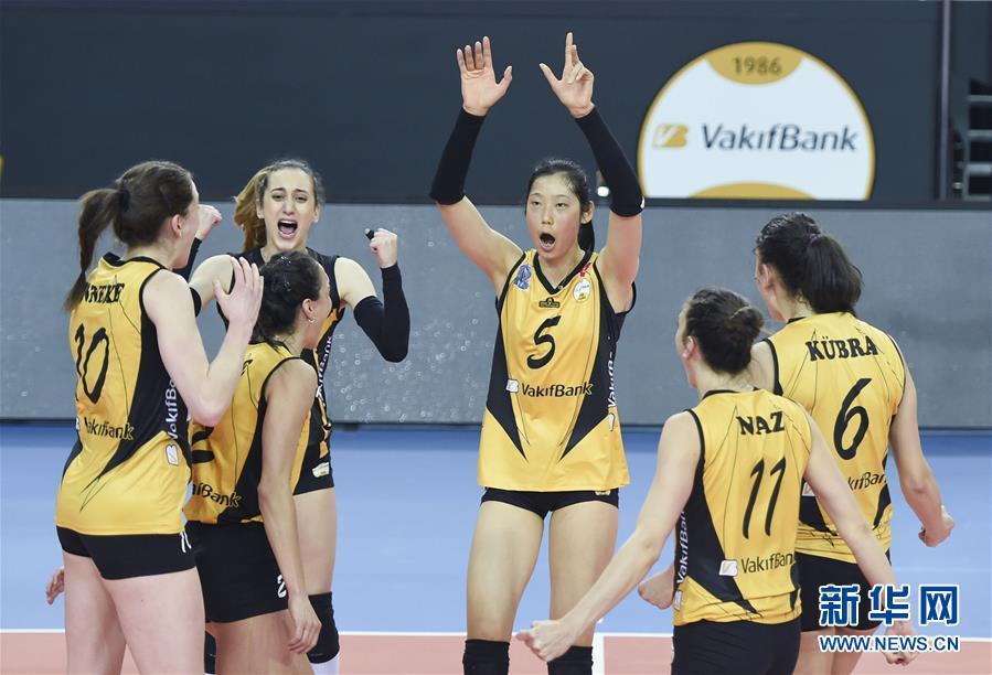 (体育)(7)排球――女排欧冠:瓦基弗银行队晋级欧冠四强