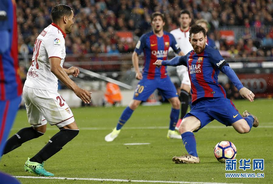 (体育)(2)足球――西甲:巴塞罗那胜塞维利亚