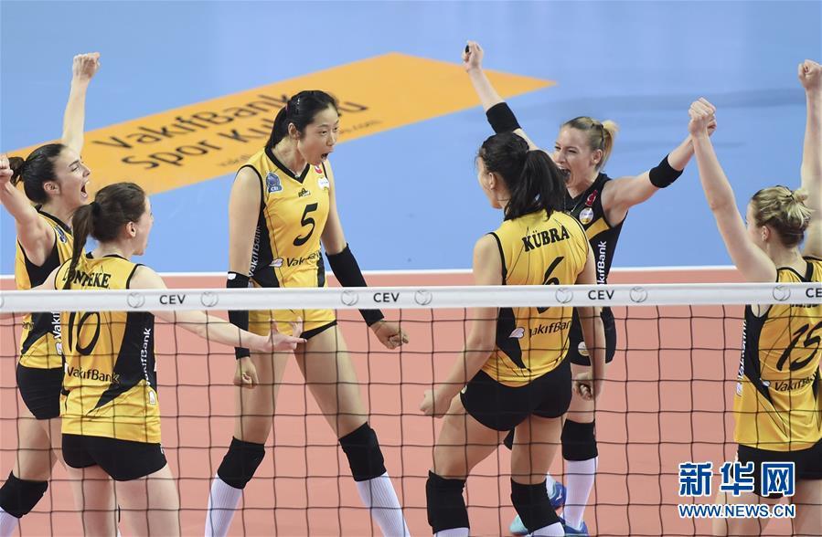 (体育)(4)排球――女排欧冠:瓦基弗银行队晋级欧冠四强