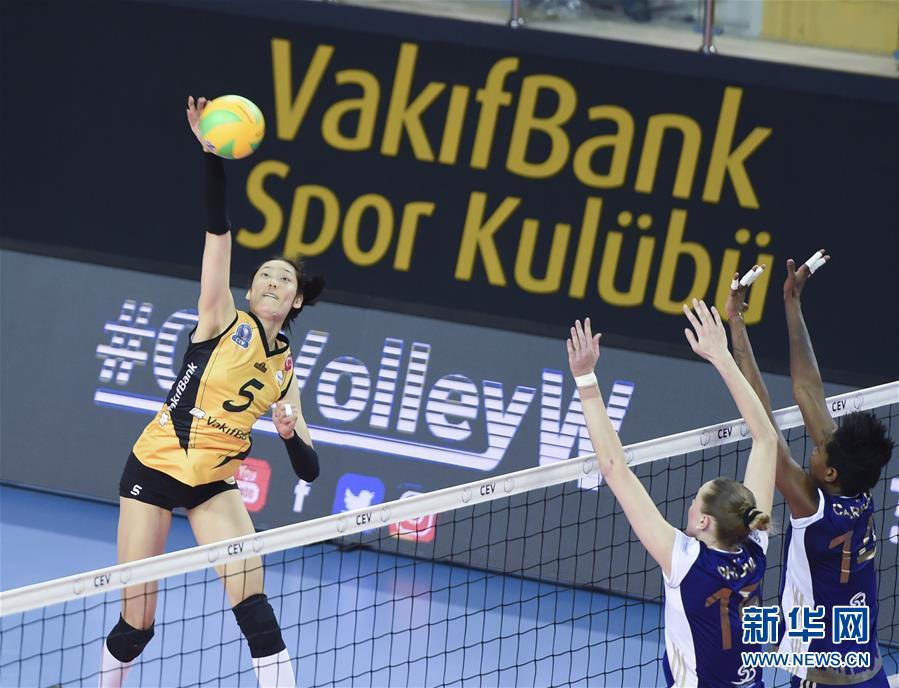 (体育)(8)排球――女排欧冠:瓦基弗银行队晋级欧冠四强