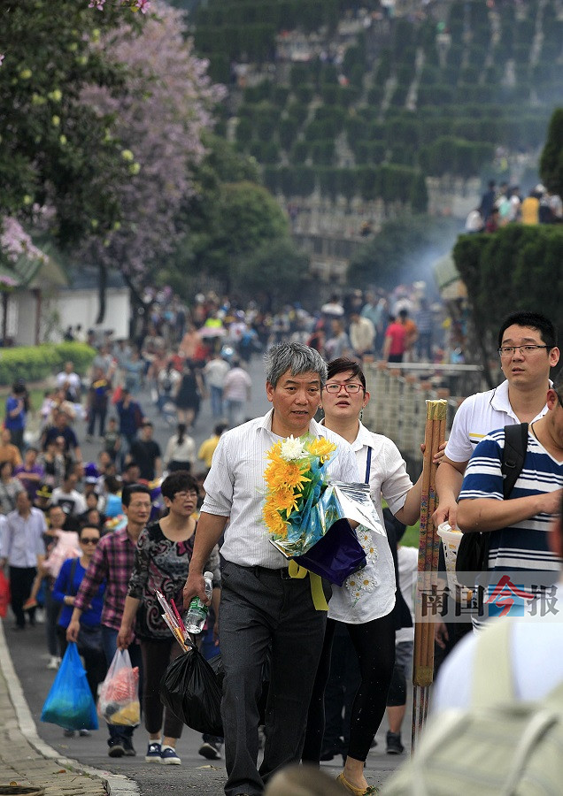 柳州9日迎26万多人次祭扫大军 虽拥不堵秩序良好