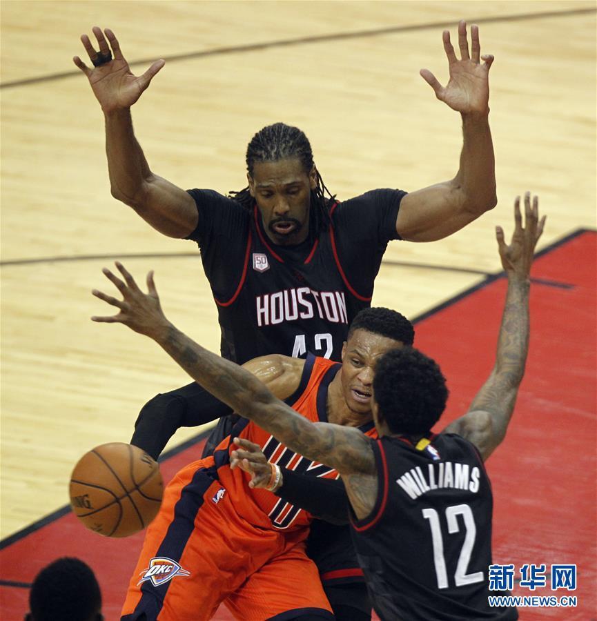 NBA季后赛:火箭胜雷霆