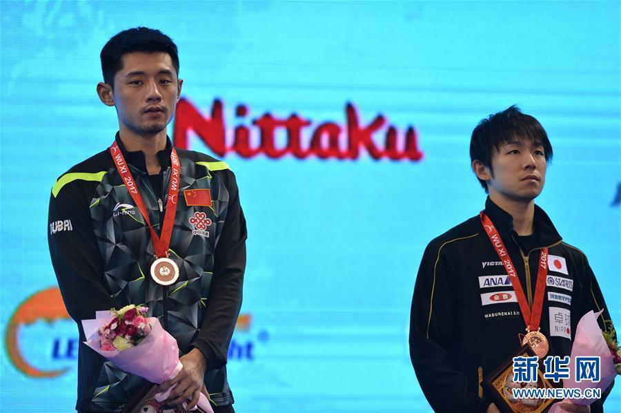 (体育)(4)乒乓球――亚锦赛:男单颁奖仪式