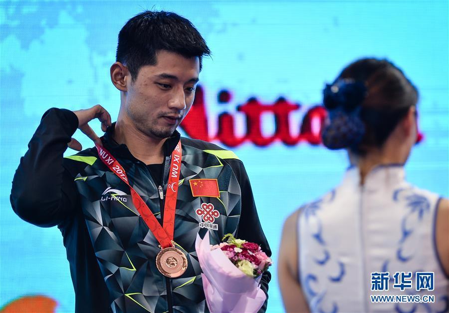 (体育)(5)乒乓球――亚锦赛:男单颁奖仪式