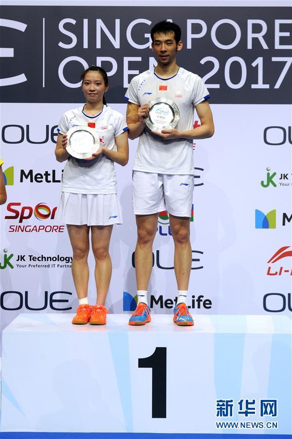 (体育)(1)羽毛球――新加坡公开赛:鲁恺/黄雅琼混双夺冠