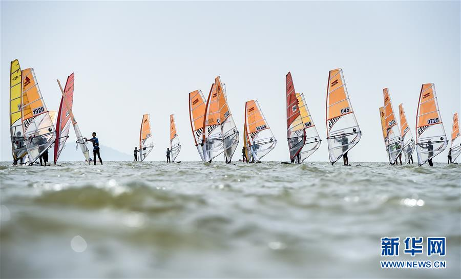 (体育)(1)帆船――中国青年帆船帆板精英赛暨全国OP帆船锦标赛开赛