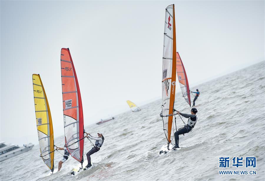 (体育)(5)帆船――中国青年帆船帆板精英赛暨全国OP帆船锦标赛开赛