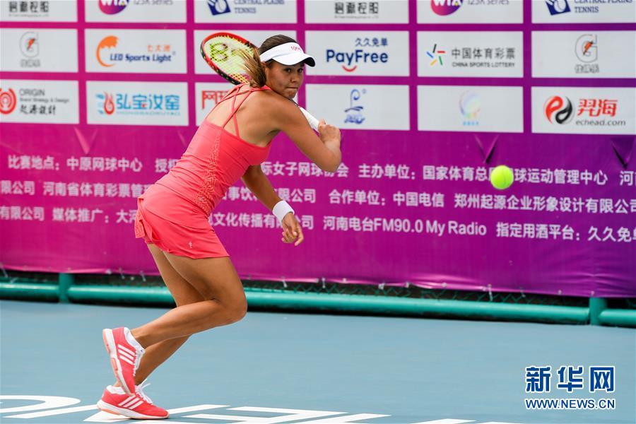 (体育)(5)网球——郑州女子网球公开赛:郑赛赛晋级