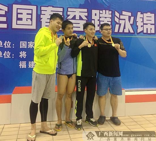 2017全国春季蹼泳锦标赛:广西队狂揽9金12银12铜