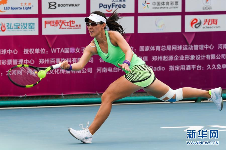 (体育)(3)网球——郑州女子网球公开赛:郑赛赛晋级