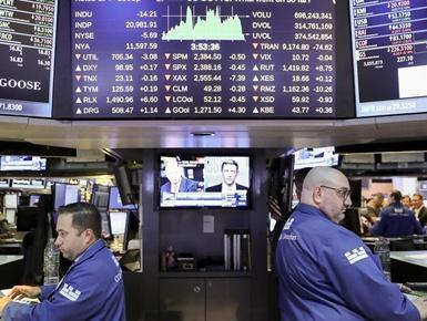 纽约股市三大股指26日下跌(图)