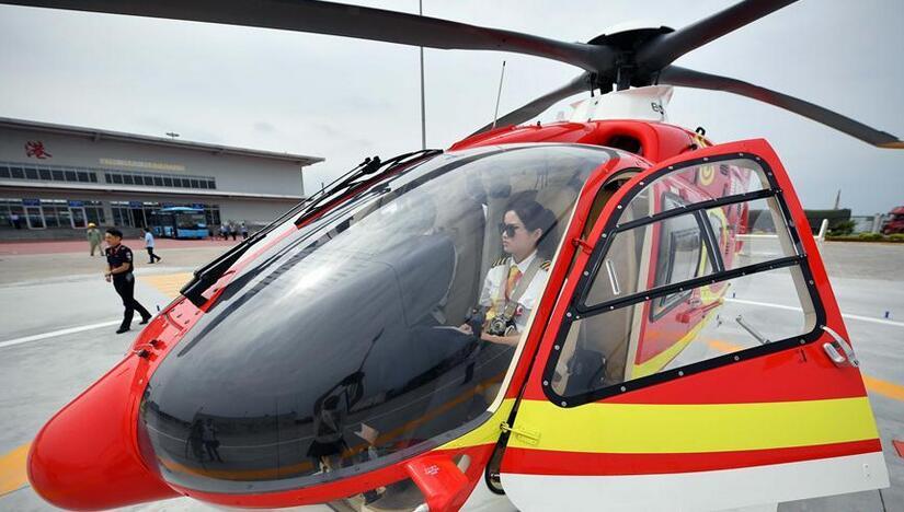 琼州海峡开通直升机摆渡