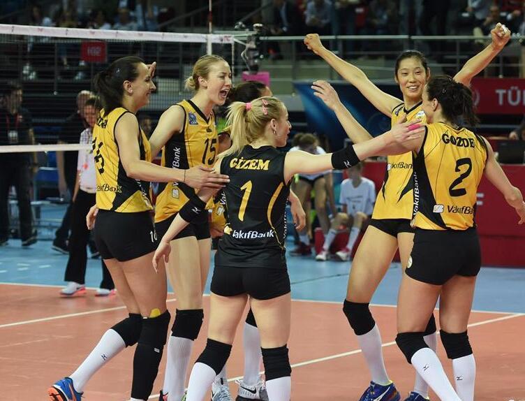 土耳其女排联赛:瓦基弗银行队胜埃扎杰巴瑟队