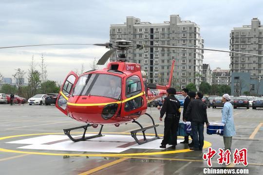 直升机、民航联运捐献器官京浙千里生命接力