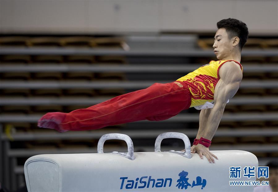 (体育)(1)体操――全国锦标赛男子鞍马:邹敬园夺冠