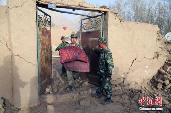 新疆塔县地震已致房屋倒塌3千余间 经济损失逾8亿元