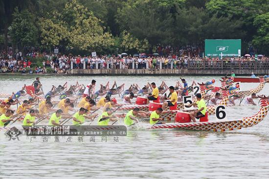 2017中国·东盟龙舟赛5月30日将在南宁市南湖开启