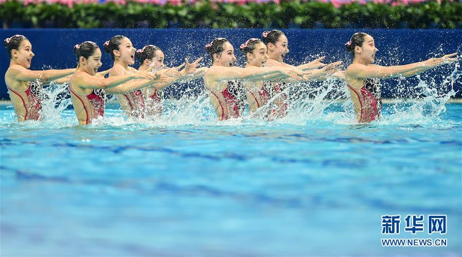 (全运会)(2)花样游泳——集体项目预赛赛况