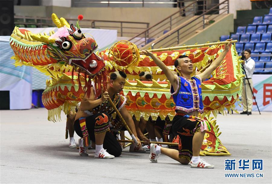 (体育)(5)第十三届全运会舞龙项目预赛拉开帷幕