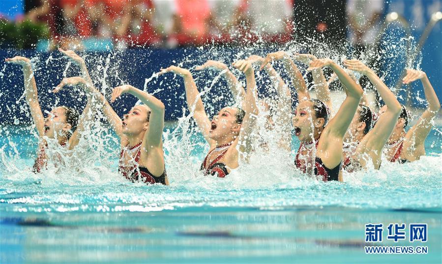 (全运会)(3)花样游泳——集体项目预赛赛况