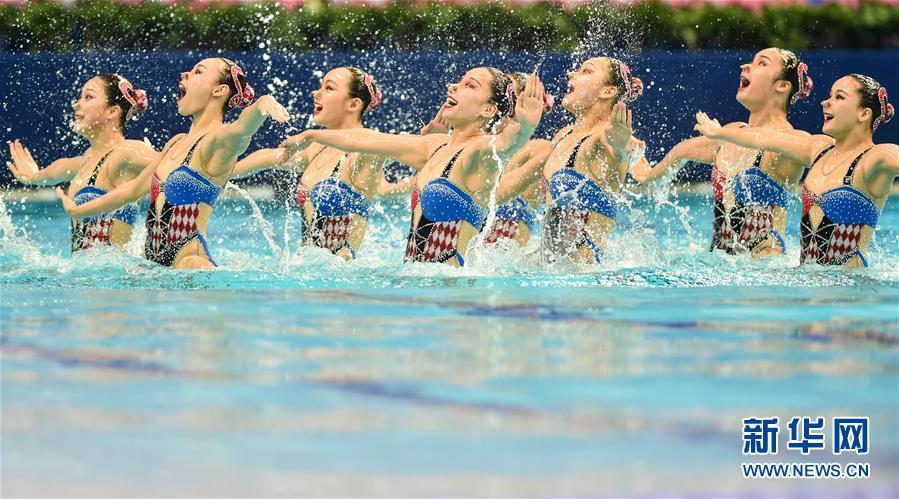 (全运会)(5)花样游泳——集体项目预赛赛况