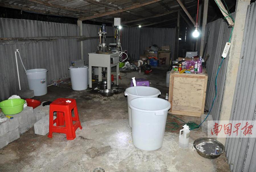 钦州市浦北一制毒窝点被端 警方缴毒上百公斤(图)