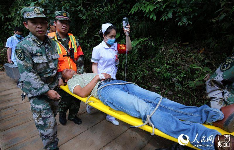 广西融水:举行山洪泥石流水灾害应急演练