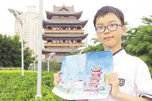 六年级学生绘出5米长《邕江全景图》