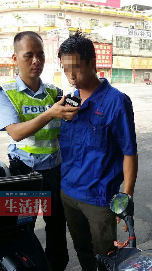 饮酒7小时后开车被查仍是酒驾 摩托车手面临处罚