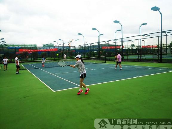 """2017柳州市""""禁毒杯""""网球团体赛开幕"""