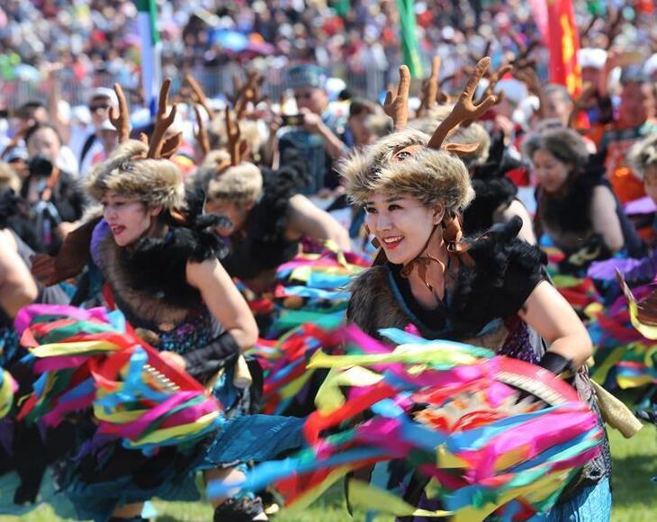 黑龙江饶河举办赫哲族第十届乌日贡大会