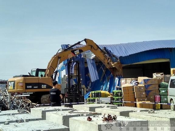 """柳南""""刮""""起飓风  一举拆除南环路10处违法建设"""