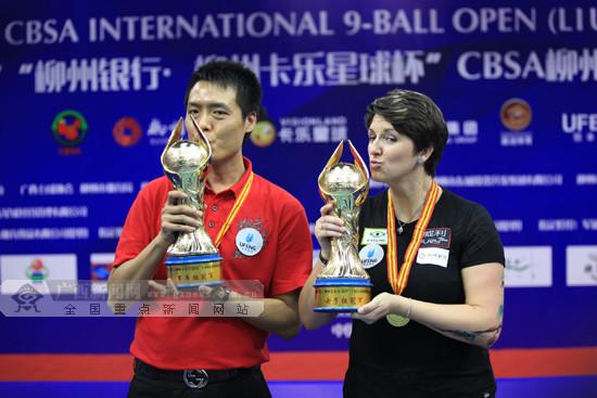 CBSA柳州9球国际公开赛收杆 女子组决赛打满21局