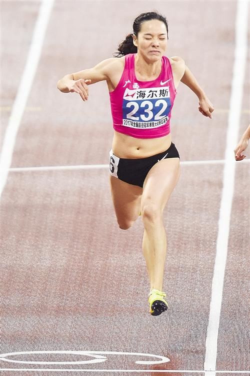 广西女飞人韦永丽 获全国田径冠军赛女子百米冠军