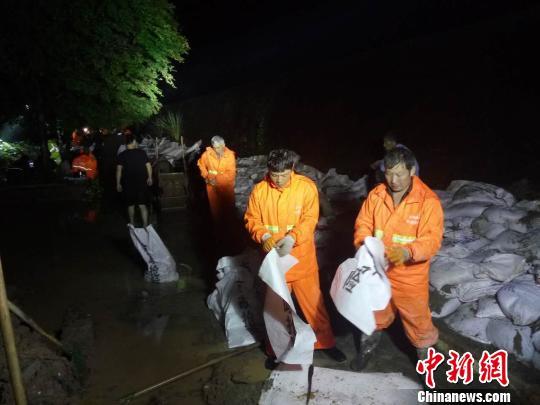 抗洪救险现场。兰溪宣传部提供