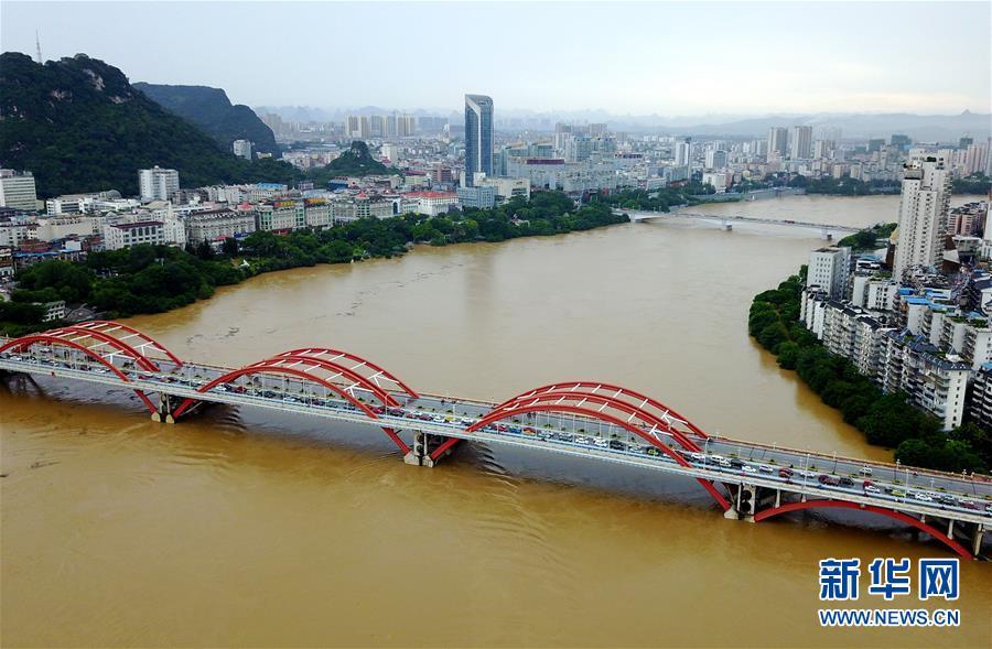 广西柳江迎来今年首个超警戒水位洪峰