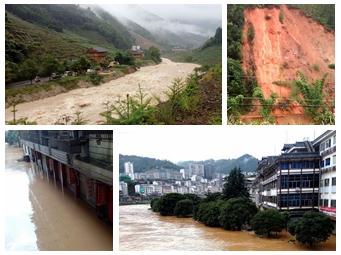 龙胜大暴雨持续 龙脊景区50多辆旅游车辆滞留(图)