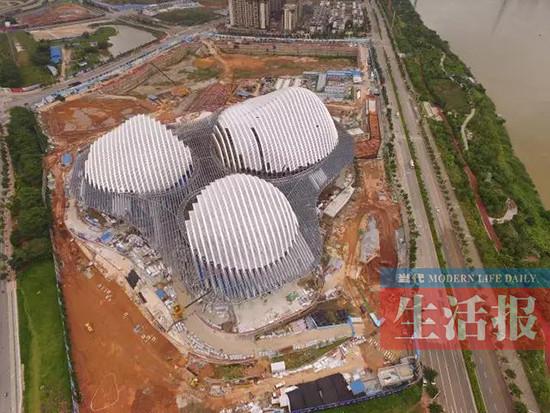 广西文化艺术中心初具规模 今年年底将建成(图)