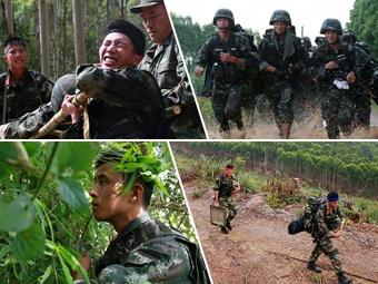 高清:武警广西总队官兵深山密林挑战极限