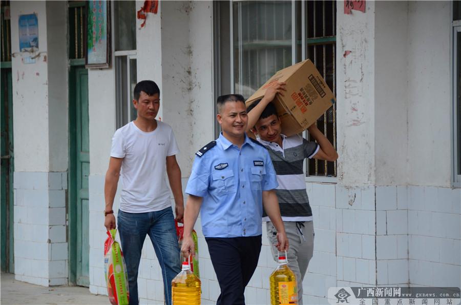 桂林市新疆商会到全州赈灾济困 诠释民族团结一家亲