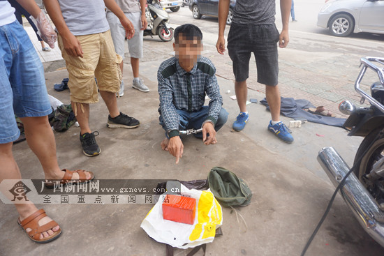 男子携带大量毒品海洛因在宁明被警方截获(图)