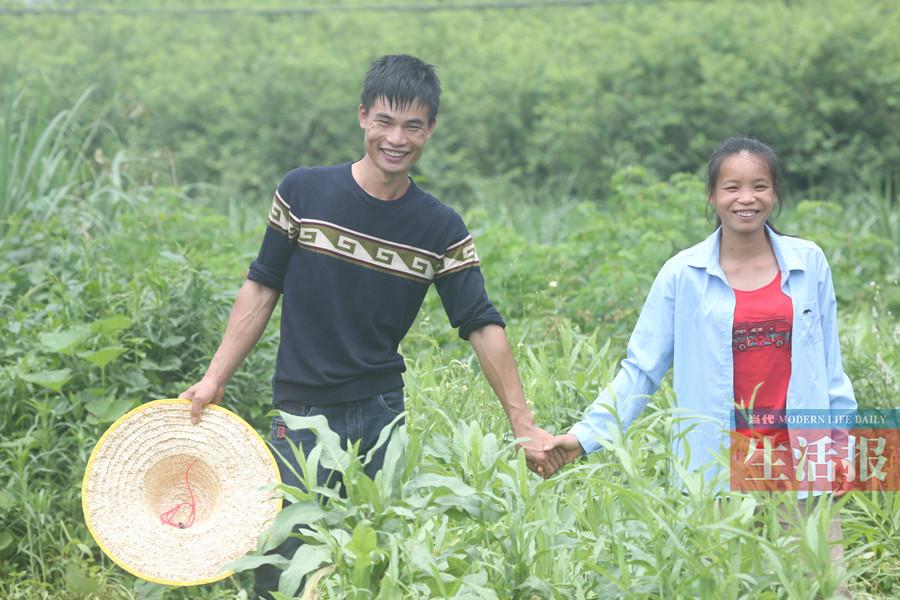 """大学毕业返乡创业 这对情侣乐当""""农场夫妻""""(图)"""