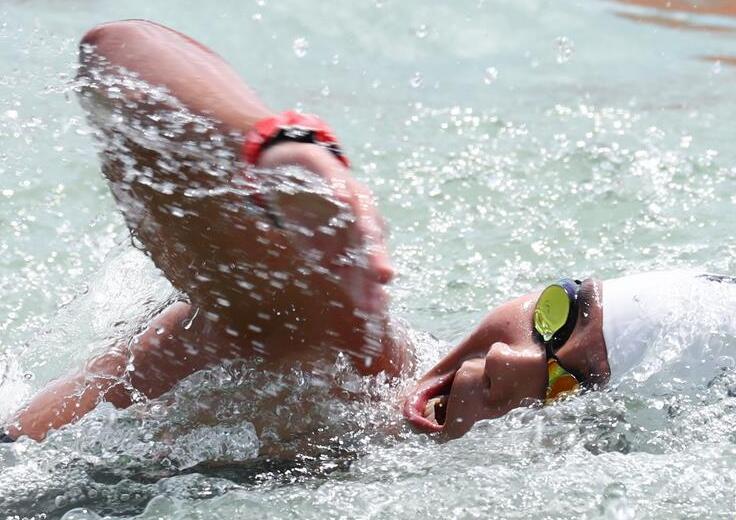 游泳——女子公开水域10公里:中国选手获得第12名和第17名