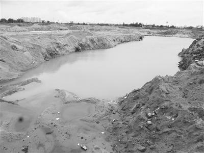 新海学校后面的水坑