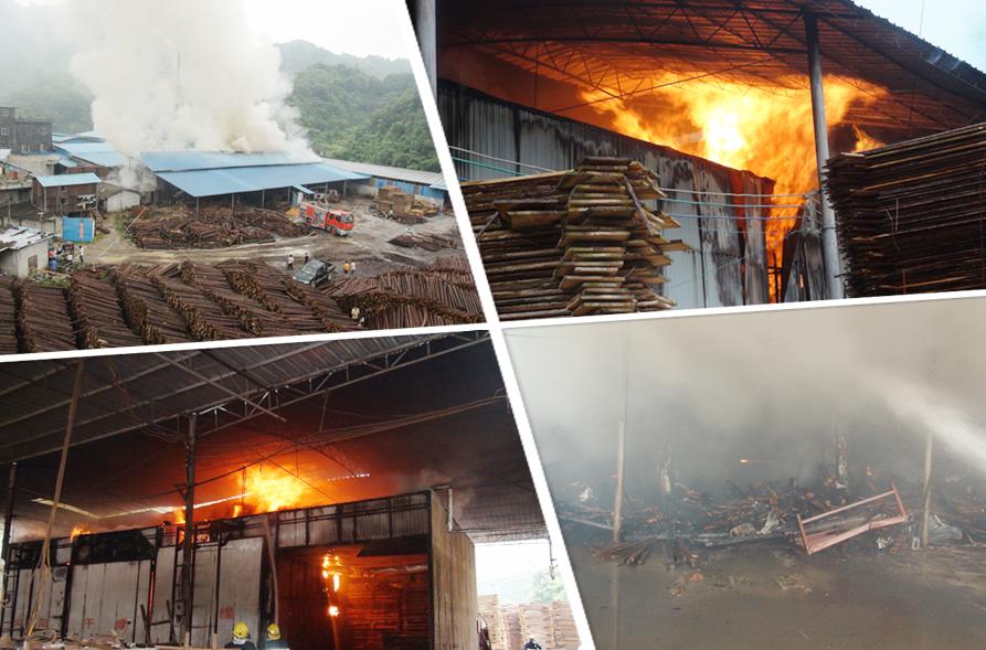 高清:凤山一木业加工厂起火 消防官兵入火场扑救