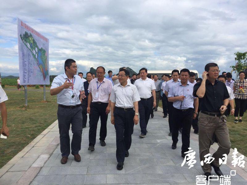 全区县域经济发展大会暨年中工作会议第二组代表在富川藤县平南北流参观考察