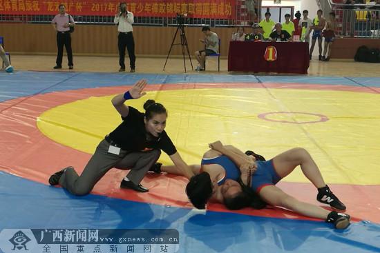 2017广西青少年摔跤锦标赛在贺州市钟山落下帷幕