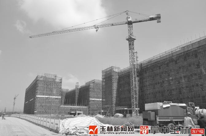 广西医科大学玉林校区建设正酣